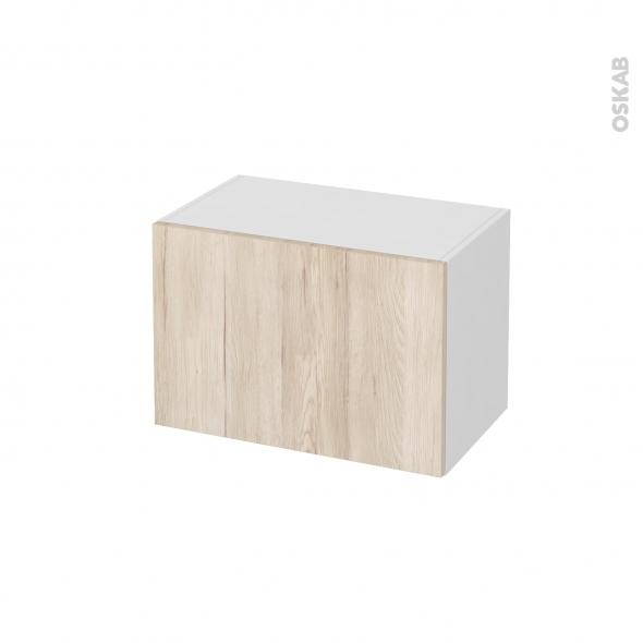 meuble de salle de bains rangement bas ikoro chene clair 1 porte l60 x h41 x p37 cm