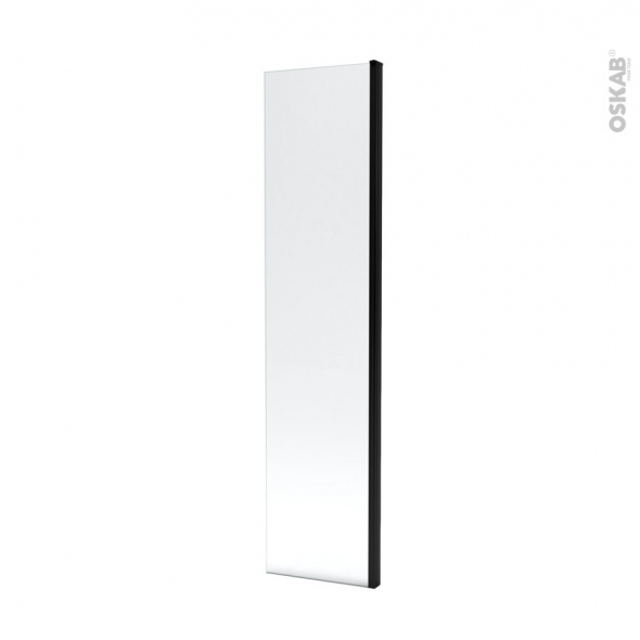 volet paroi de douche a l italienne 40 cm verre transparent 6 mm profiles noirs atlas 2