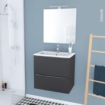 Ensemble Salle De Bain Lave Main Plan Vasque Miroir Oskab