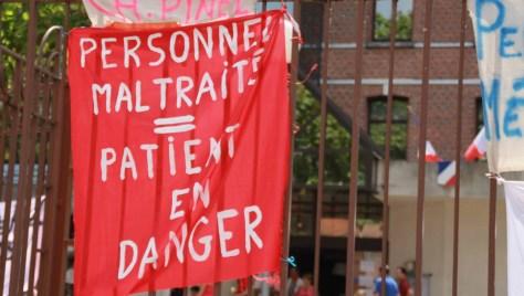 la grève de la faim des soignants de l'HP de Rouen