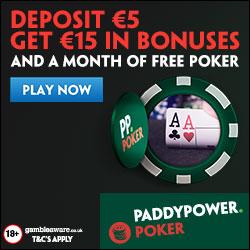 Poker - Signup Bonus Dep 5 Get 15