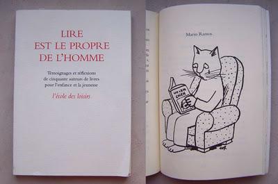 """Résultat de recherche d'images pour """"lire est le propre de l'homme école des loisirs"""""""