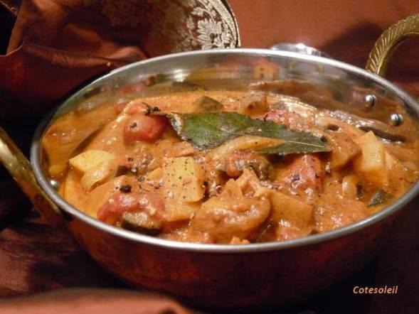 Mijoté de légumes à l'indienne