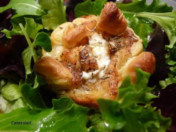Crottin en nid de pâte