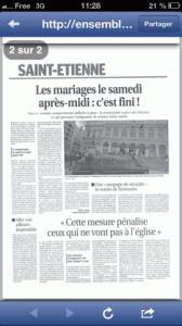 Mariages musulmans dans le Progres 168x300 Elections à Saint Etienne : Musulmans de la Loire, les raisons de la colère