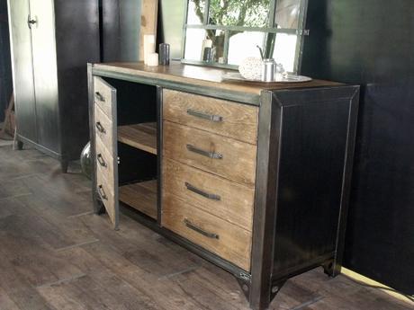 meuble industriel bois et metal paperblog