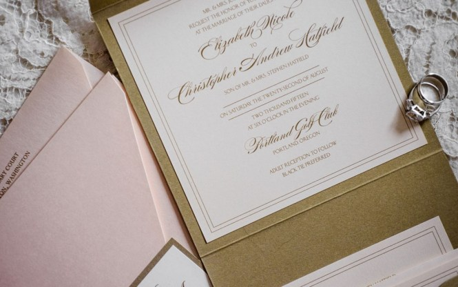 Staying Within Your Wedding Invitation