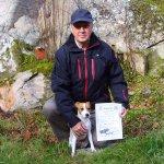 Väne Ryr 2011-10-281a-pris öppenklass viltspår Joygarden's Phoee BeeDomare Roger Skoglund