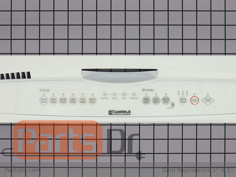 WP8558206 - Kenmore Control Panel (White)