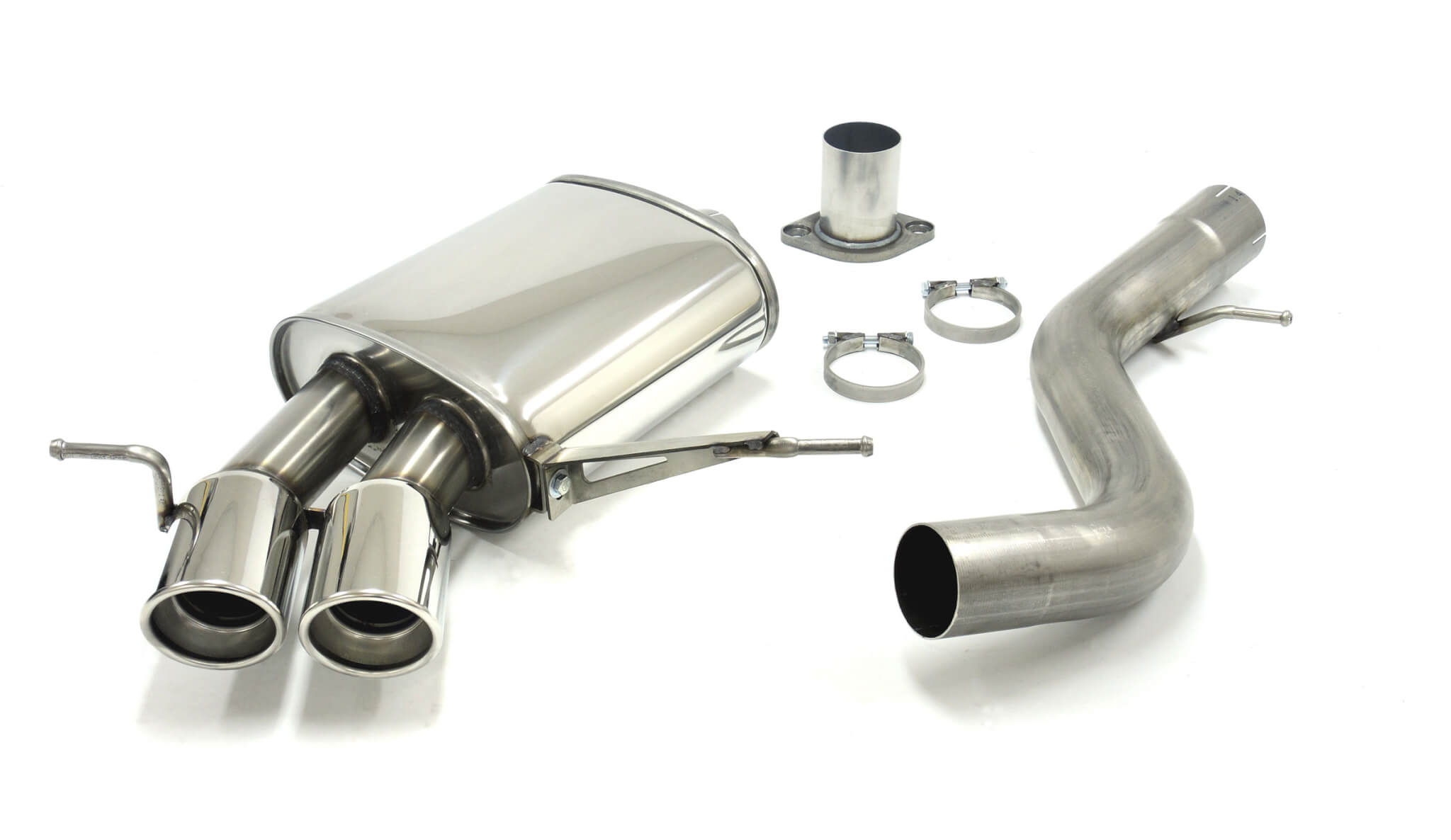 details about bmw 135i e82 coupe bi turbo jetex performance exhaust back box twin 80mm tips