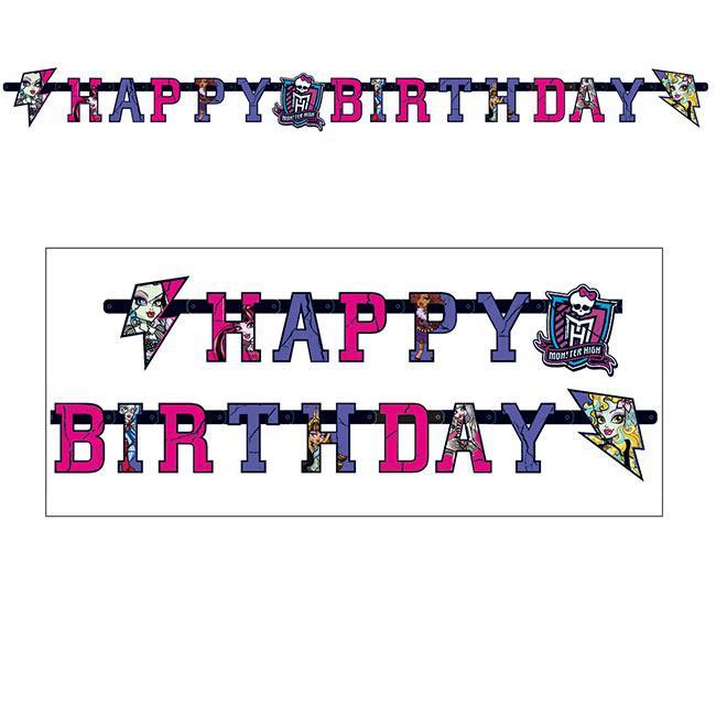 Happy Birthday Girlande Monster High Girls 1 80 M Gunstig Kaufen Bei Partydeko De