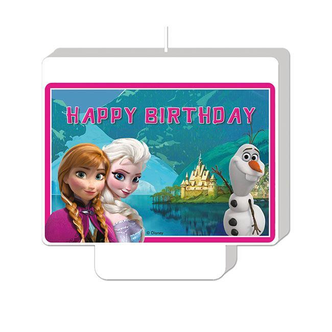 Tortenkerze Die Eiskonigin Disney Happy Birthday 7 X 9 Cm Gunstig Kaufen Bei Partydeko De