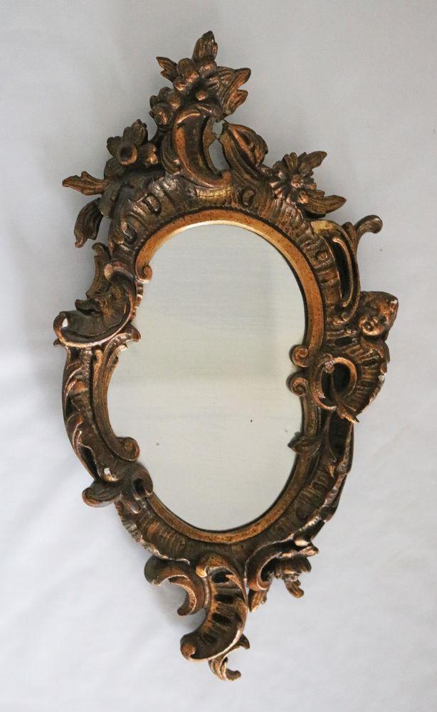ancien miroir ovale unique collector