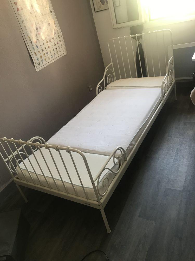 achetez lit blanc extensible occasion