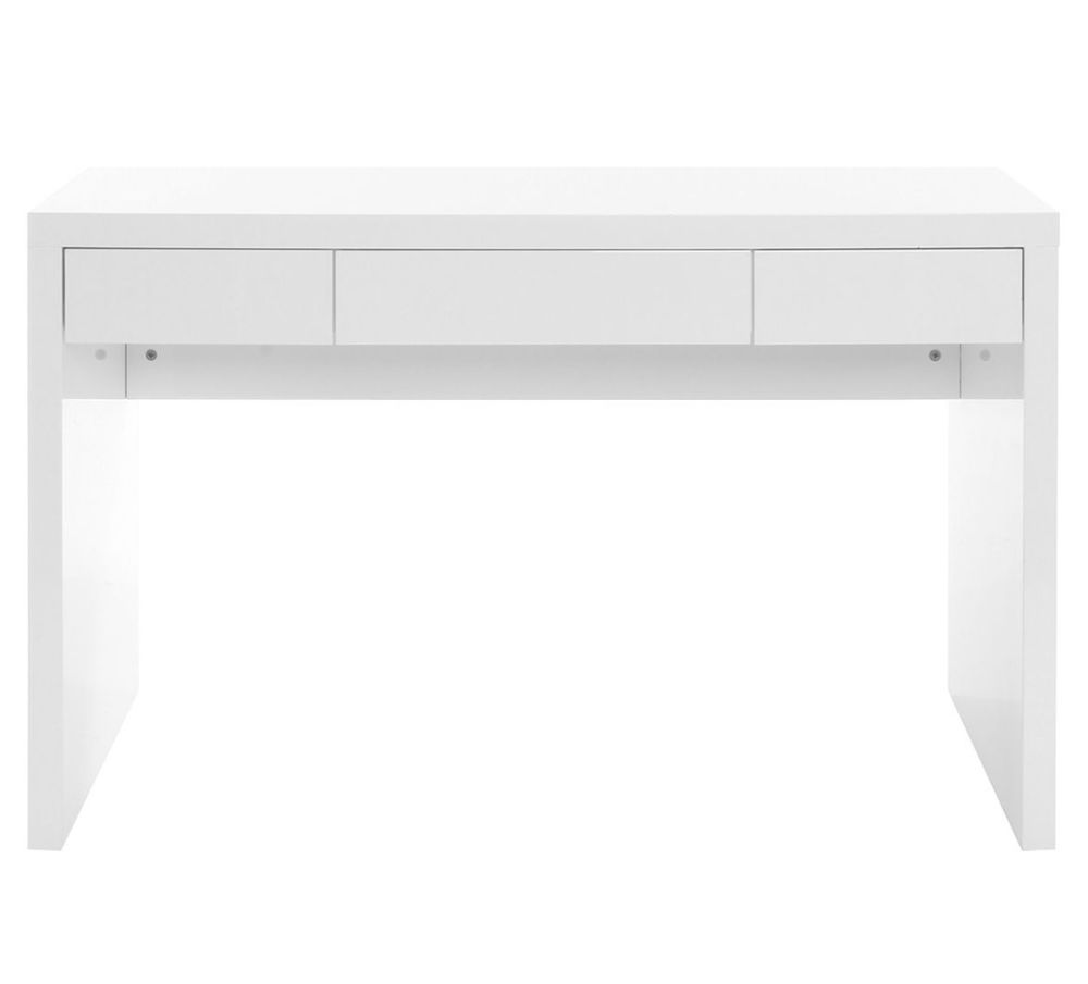 bureau design blanc laque a 250