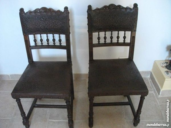 achetez chaise cuir ancienne occasion
