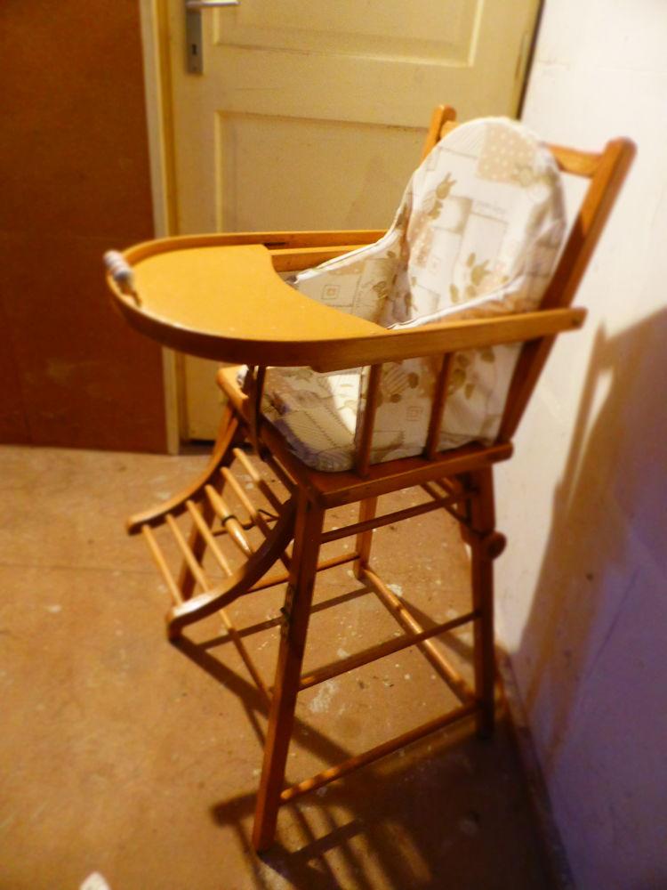 achetez chaise haute en bois occasion