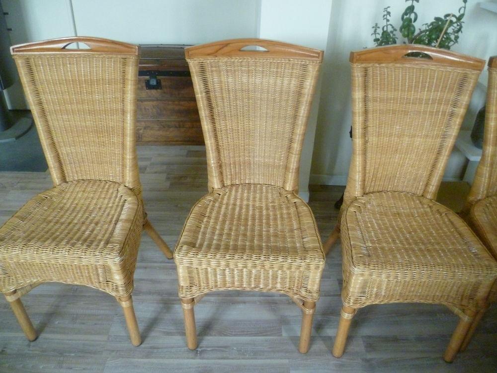 achetez 6 chaises en rotin occasion