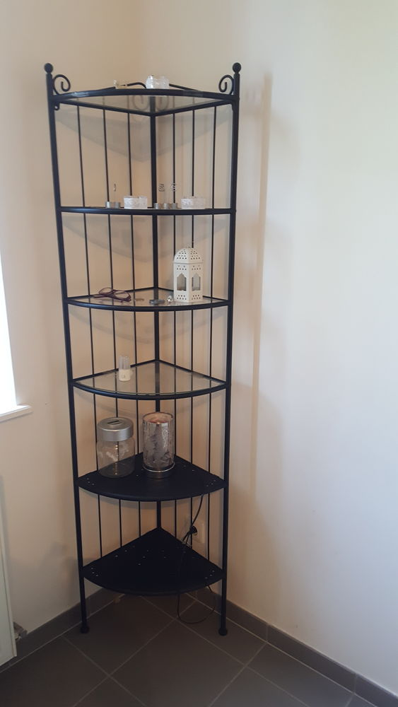colonne d angle ikea fer forge et verre tbe a 20