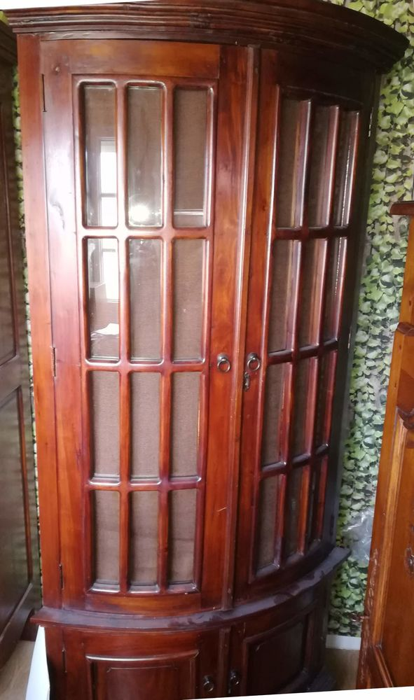 meuble d angle bois exotique massif a 120
