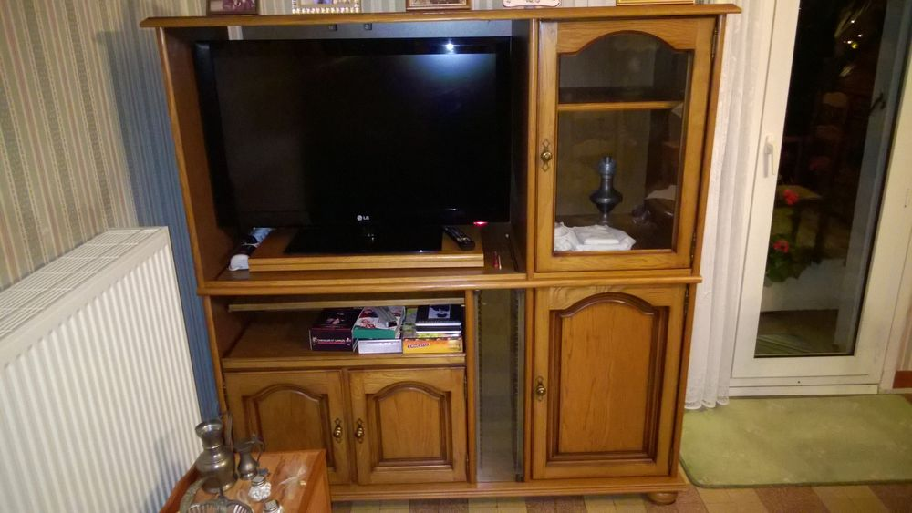 meuble tv en chene massif a 80