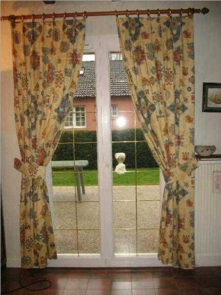 3 paires de doubles rideaux pour portes fenetres a 150