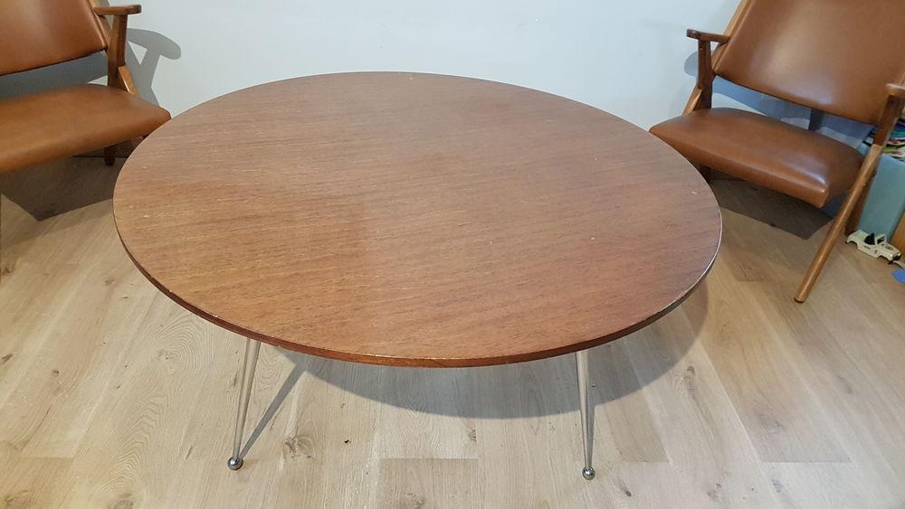 table basse ronde vintage 70 a 160