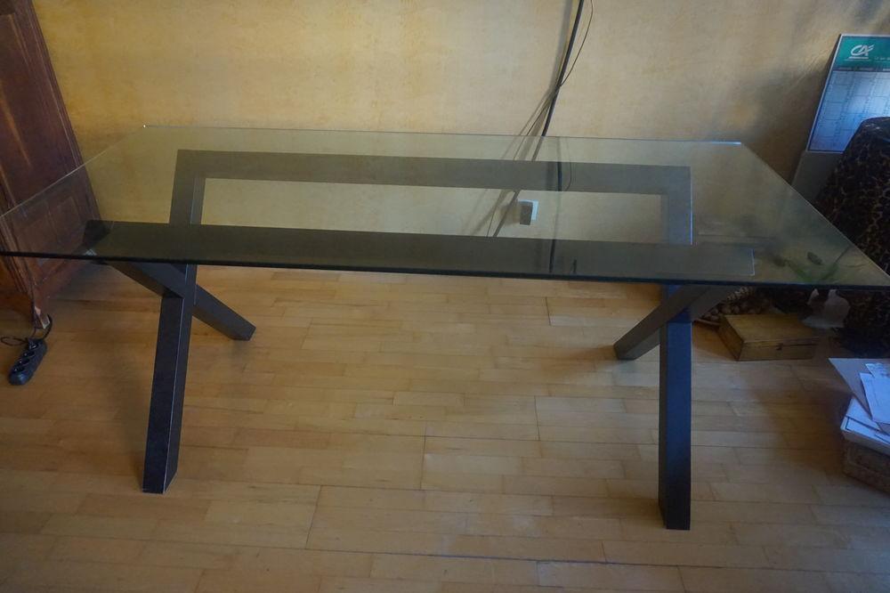 table habitat dublin plateau en verre 180 x 82 tres bon a 350