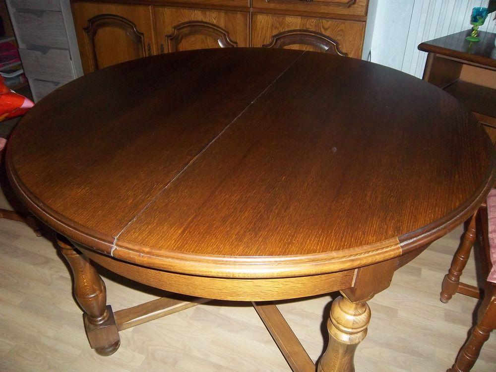achetez table ronde en bois occasion