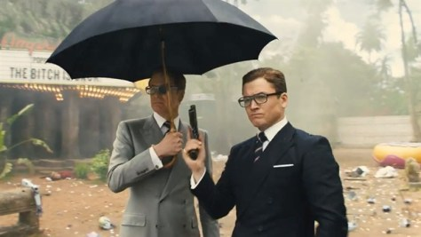 Taron Egerton & Colin Firth in Kingsman: The Golden Circle