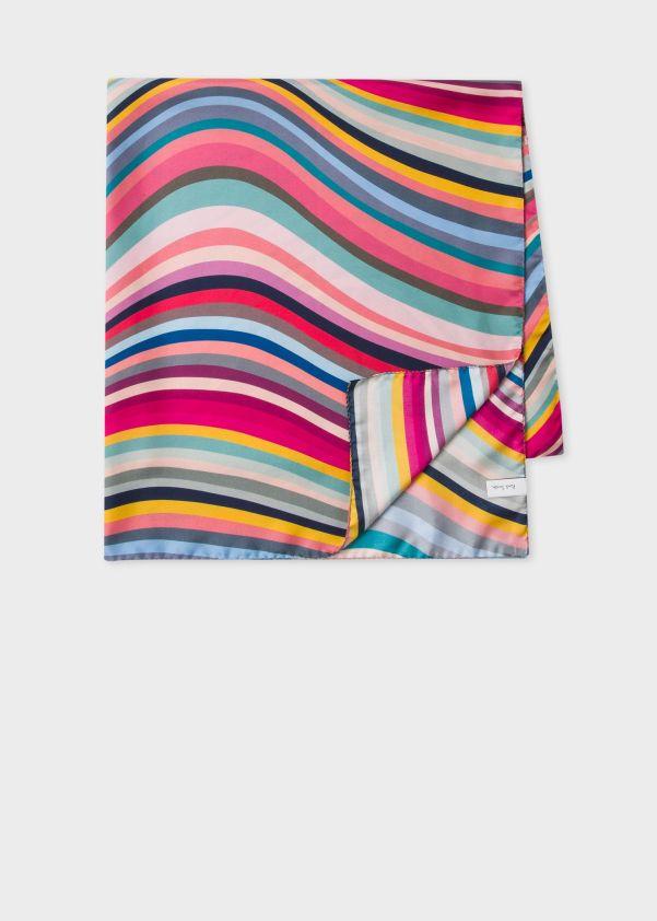 Women's Multi-Colour 'Swirl' Silk Square Scarf