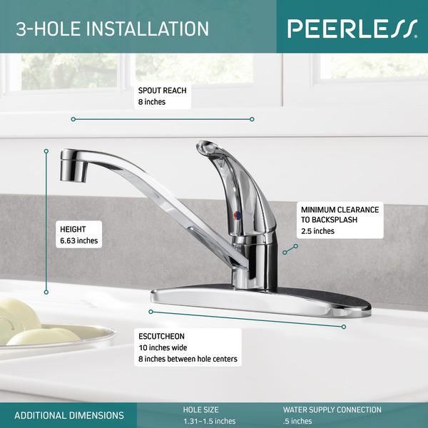 p110lf single handle kitchen faucet