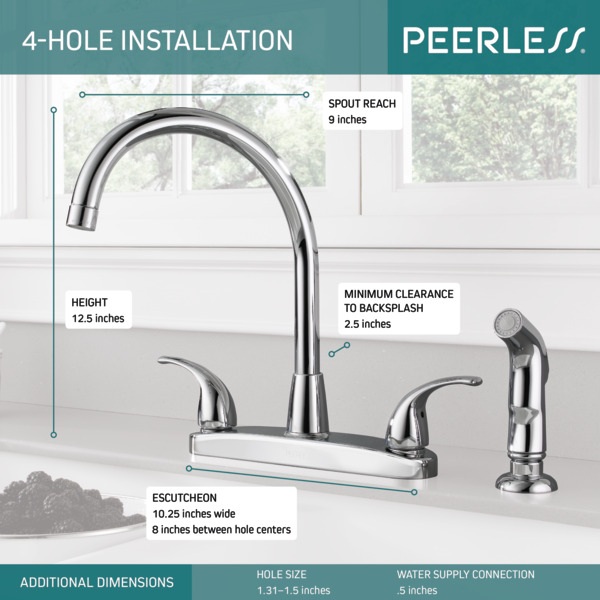 p299578lf two handle kitchen faucet
