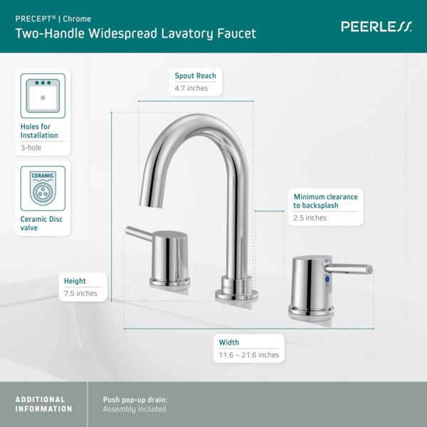 p3547lf two handle widespread bath faucet