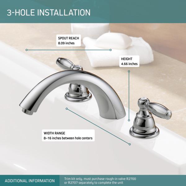 ptt298696 two handle roman tub trim