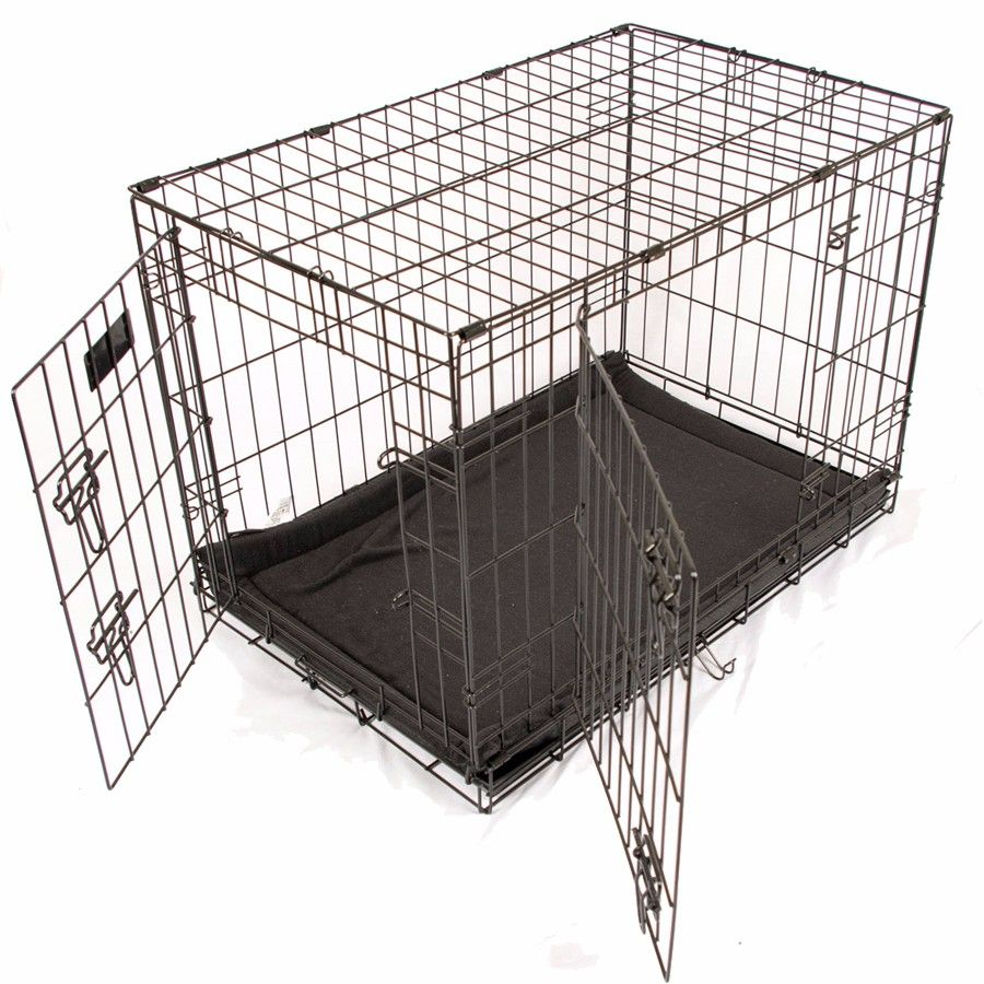 Rac Metal Fold Flat Dog Crate Large Web Exclusive Pets At Home