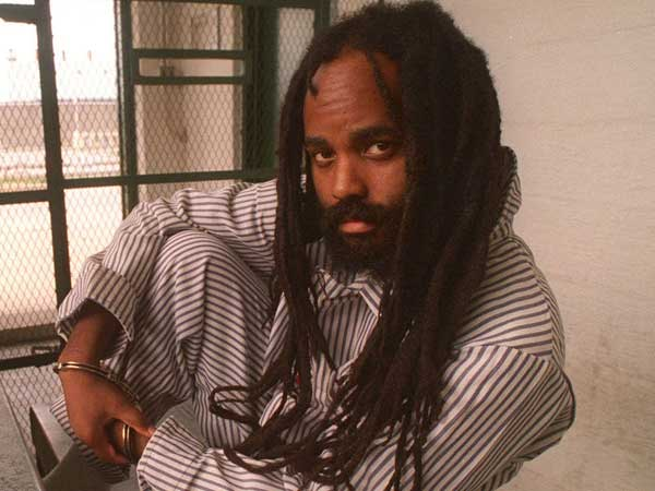 Mumia Abu-Jamal on death row in the 1990s. (APRIL SAUL / File Photograph)