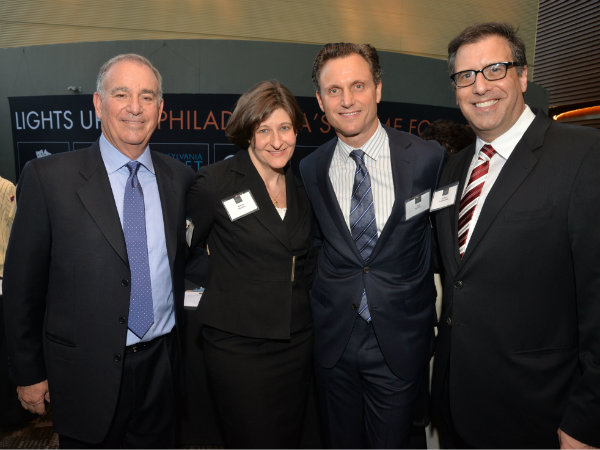 Richard Glazer, Esq., executive director of the Pennsylvania Innocence Project; Marissa Boyers Bluestine, Esq,  legal director; actor Tony Goldwyn and screenwriter/director Richard LaGravenese