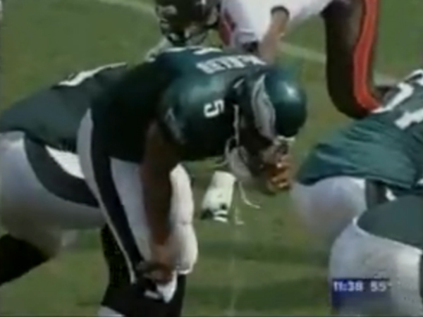Image result for donovan mcnabb throwing up