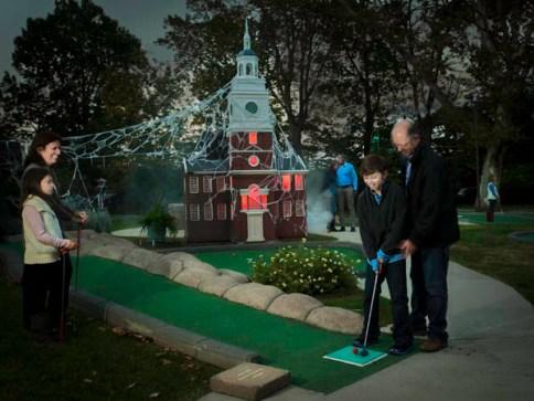 Image result for franklin square spooky mini golf