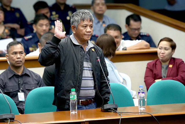 Star witness Edgar Matobato was the center of attention in last Thursday's Senate hearings on extrajudicial killings. Live coverage on TV and radio was provided by a majority of outlets, save for News5. (Photo credit: The Philippine Star)