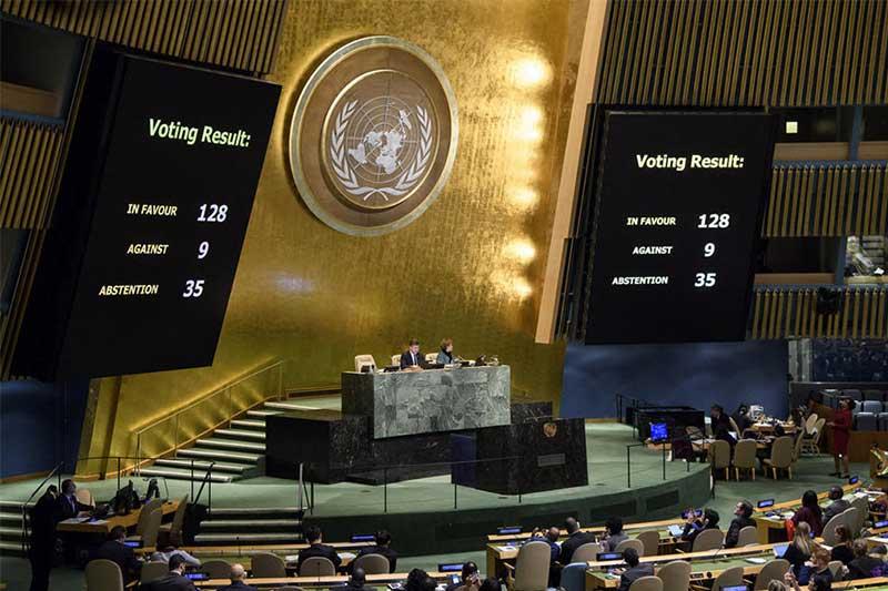 Image result for photos of un voting on jerusalem