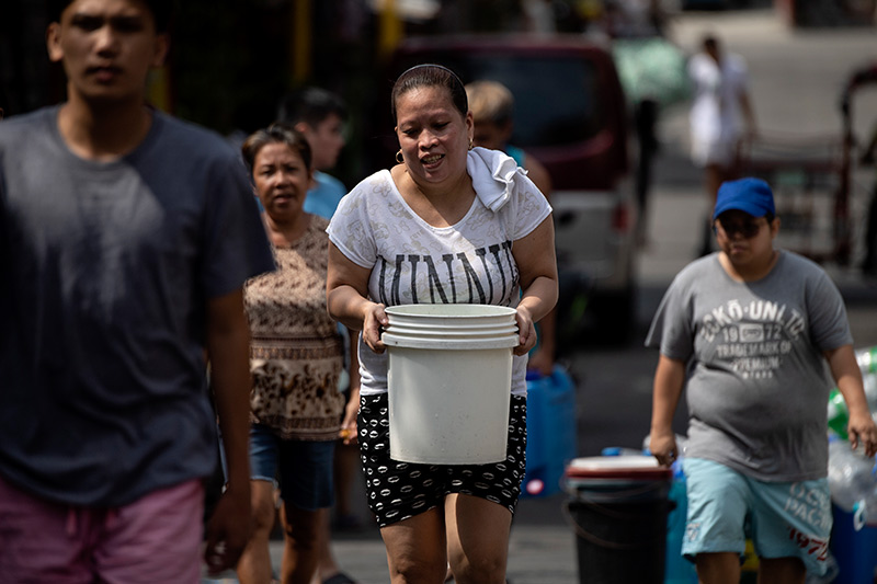 Image result for water shortages manila line up