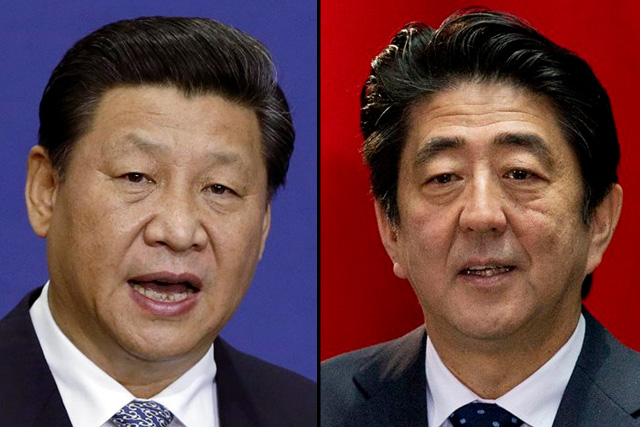 Image result for Shinzo Abe and China's Xi