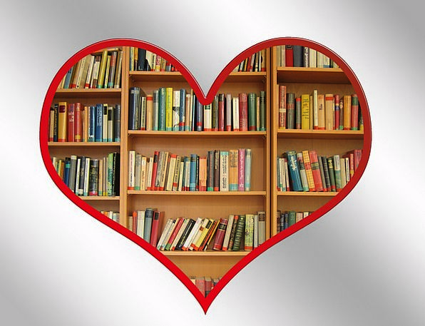 Image result for heart bookshelf