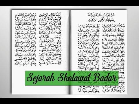 Sejarah Sholawat Badar