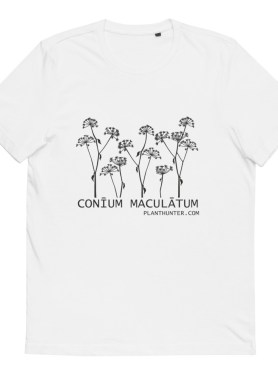 Hemlock - Conium maculatum 100% Organic Cotton T-Shirt white