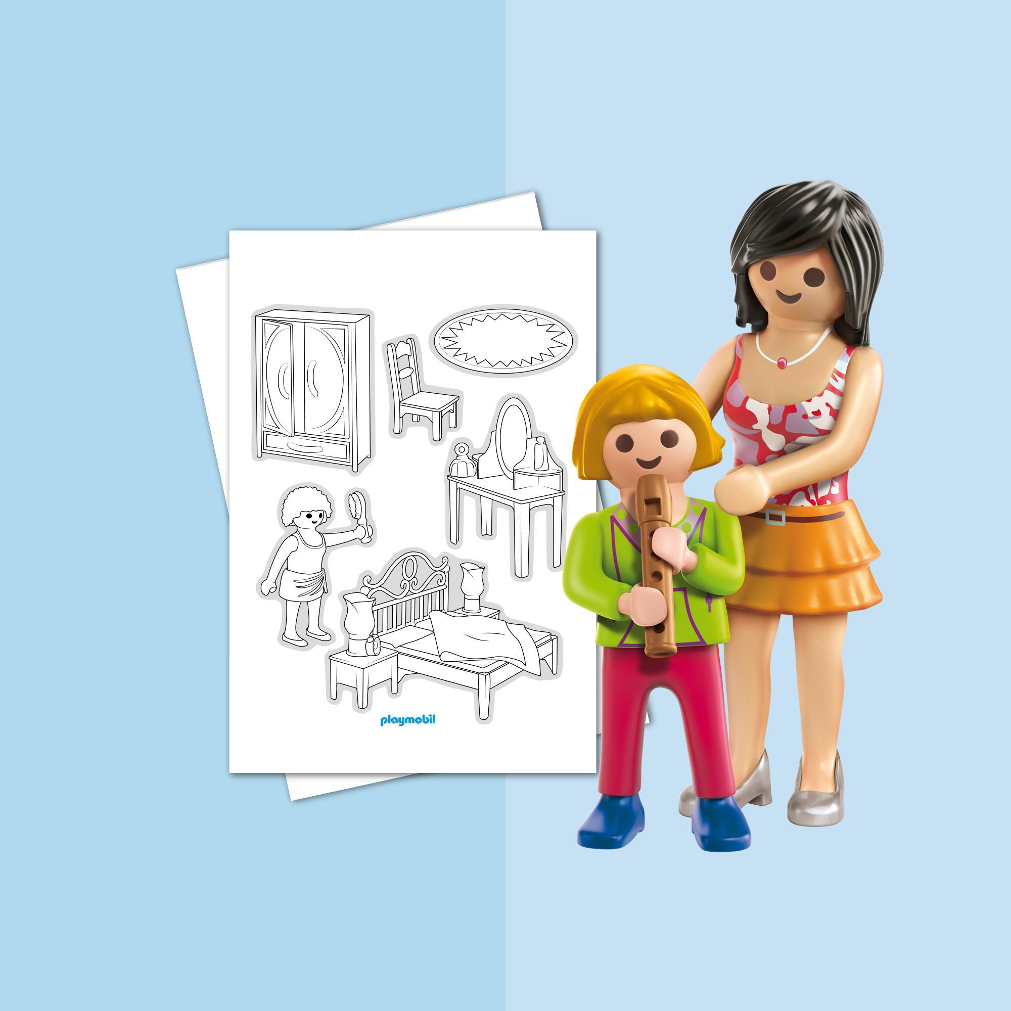 Coloriage Playmobil La Maison Traditionnelle