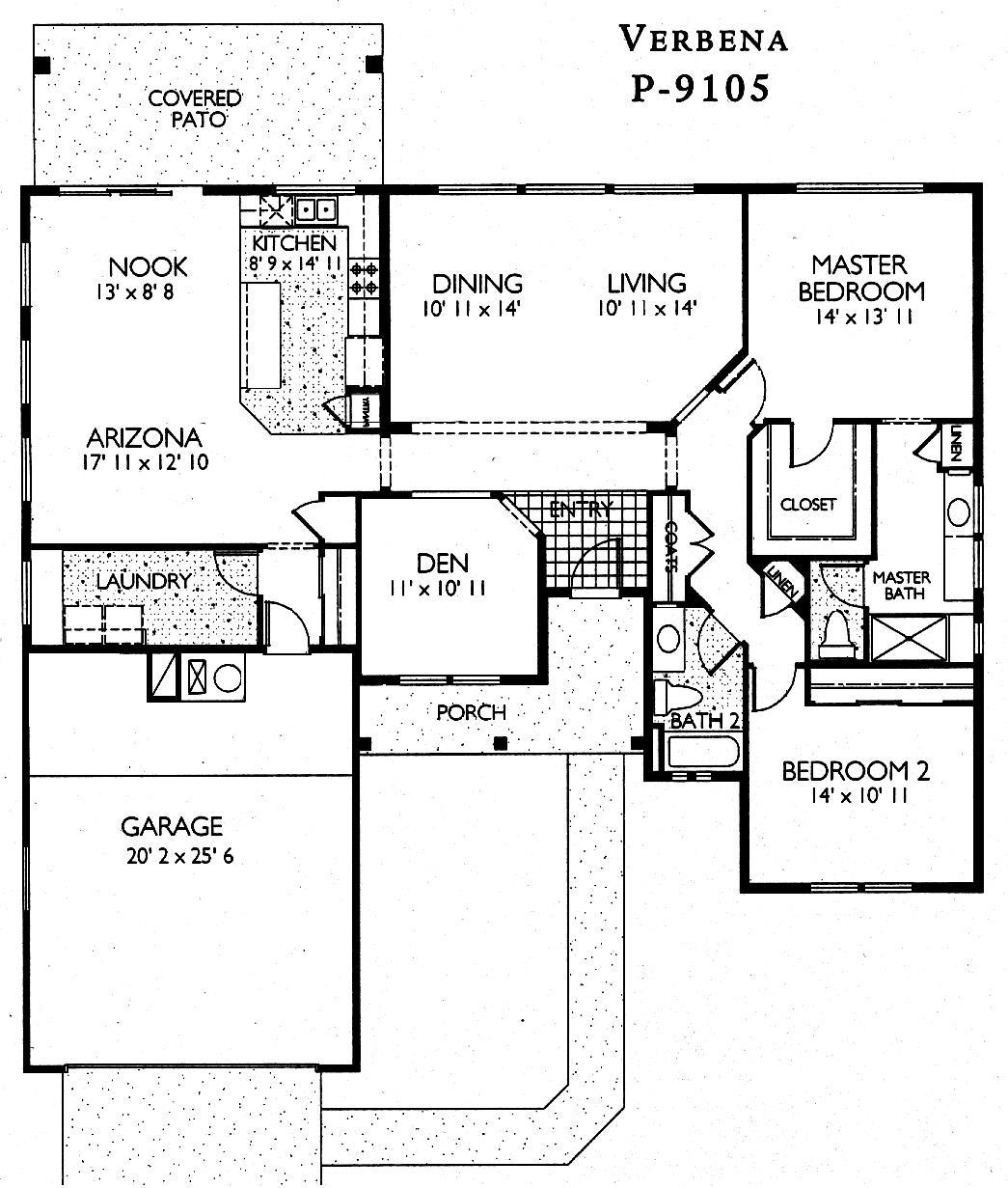 Sun City Grand Verbena Floor Plan Del Webb Sun City Grand