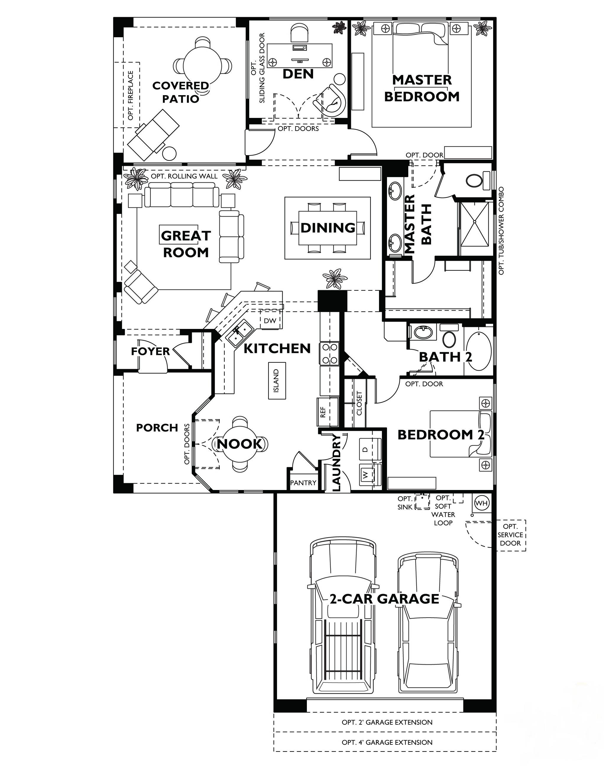 Trilogy At Vistancia Monaco Floor Plan Model Home Shea